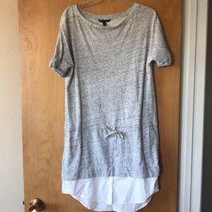 Banana Republic heather gray sweatshirt dress
